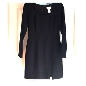 Black long sleeve dress  100percent acetate